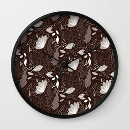 Trendy Floral Pattern Wall Clock