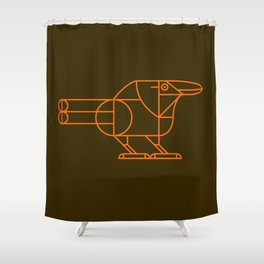 Raven on Brown Shower Curtain