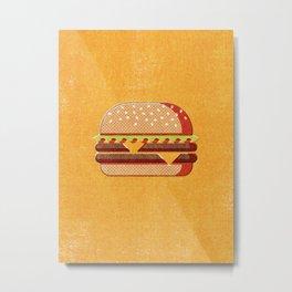 FAST FOOD / Burger Metal Print