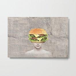 Burger Vision Metal Print