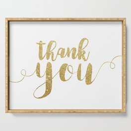 Thank You | Gold Glitter Serving Tray