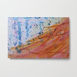 OceanFire watercolor Metal Print