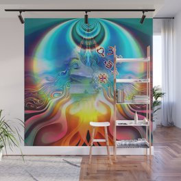 6 Language of Light Base Chakra Symbols Wall Mural