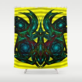 Gargoyles, modern and abstractly ... Shower Curtain