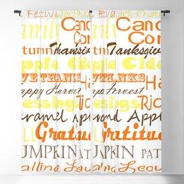Fall Subway Style Word Art Design Blackout Curtain