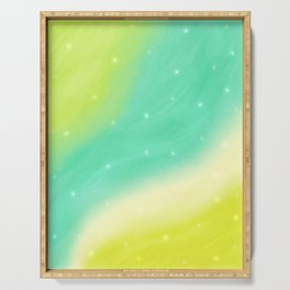 Rush of Green (Dreamy Abstract Art) Serving Tray