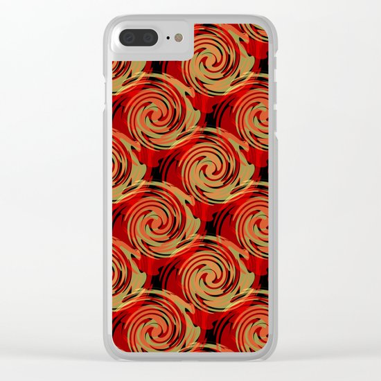 Abstracty pattern in red and brown tones. Clear iPhone Case