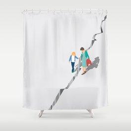 Earthquake Shower Curtain