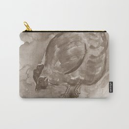 Happy Hen - Sepia Carry-All Pouch