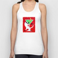 martini Tank Tops featuring Moon Martini by Gem S Visionary