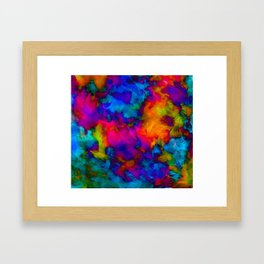 Vibrant Abstract Color Explosion  Framed Art Print