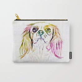 Cavalier King Charles Spaniel Dog Art Painting Carry-All Pouch