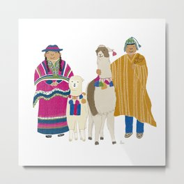 Llamas and alpacas Metal Print