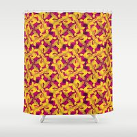 asia Shower Curtains featuring Asia by Emma Stein
