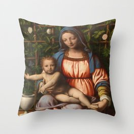 Holy Mother with child Throw Pillow