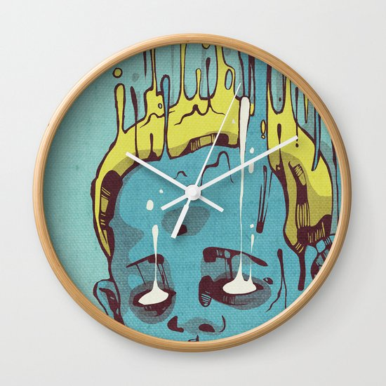 The Blue Boy with Golden Hair Wall Clock