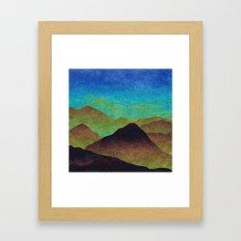 Through hilly lands and hollow lands Framed Art Print