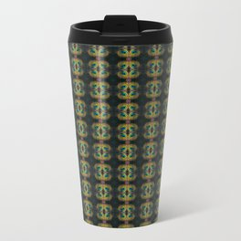 Peacock Bead Abstract Travel Mug