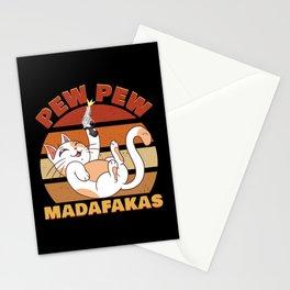 Pew Pew Madafakas Cat Stationery Cards