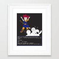 chrono trigger Framed Art Prints featuring Chrono Lost by Sampsonknight
