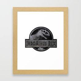 Indominus Rex Logo T-Shirt Framed Art Print