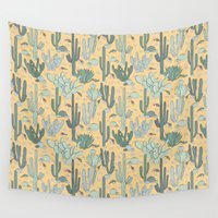 guns Wall Tapestries featuring Succulent Guns by lapenche