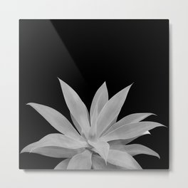 Black Gray Agave Vibes #1 #tropical #decor #art #society6 Metal Print