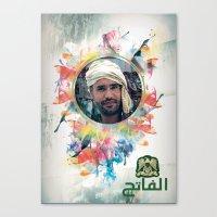 islam Canvas Prints featuring The 44th : Saif Al-Islam Gaddafi by Galerija