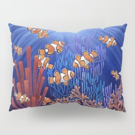 Clown Fish tank Pillow Sham