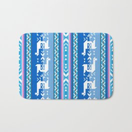 Llamas_Pink and BlueSky Bath Mat