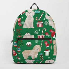 Cockapoo dog breed christmas holiday pet portrait pattern gifts Backpack