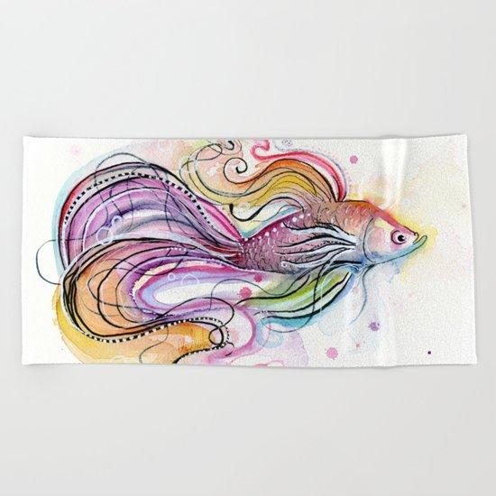 Betta Fish Beach Towel