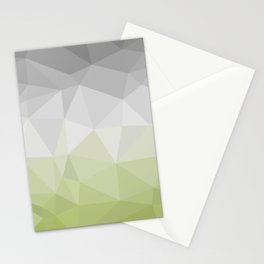 light green and grey polygon Stationery Cards