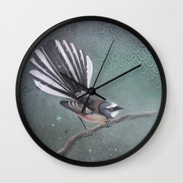 Fantail & Scallops Wall Clock