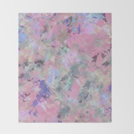Pink Blush Abstract Throw Blanket