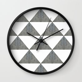Cement White Triangles Wall Clock