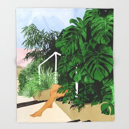 Hiding in Green #painting #illustration Throw Blanket