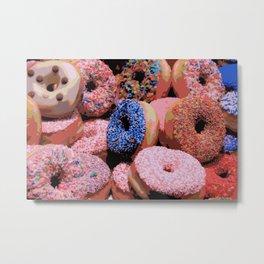 Donuts - JUSTART © Metal Print
