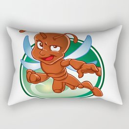 Cartoon red ant with wings Rectangular Pillow