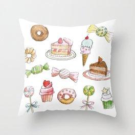 Cakes & Candies Throw Pillow