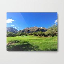Mountains and Golf Metal Print