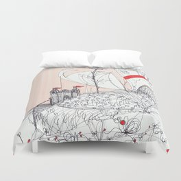 In the sky and in the sand Duvet Cover