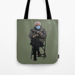 Bernie Sanders Mittens Chair Meme Vector Art Tote Bag