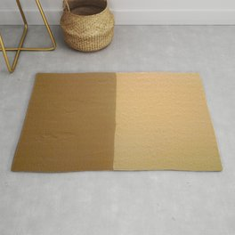 Imperfect Smooth VS Orange Peel Textures Minimalism Earth Tone Art - Corbin Henry Rug