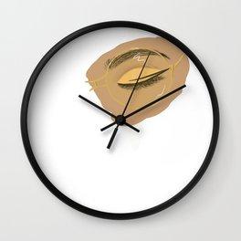 Golden Glasses Wall Clock
