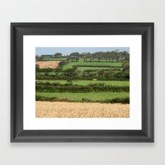 Fields of Devon Framed Art Print