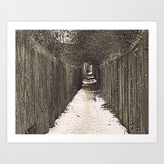 Lone Winter Walk Art Print