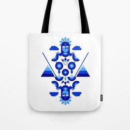 Libra in Blue Tote Bag