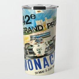Gran Prix de Monaco, 1984, vintage poster Travel Mug