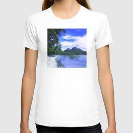Tropical Paradise Island Beach in French Polynesia T-shirt